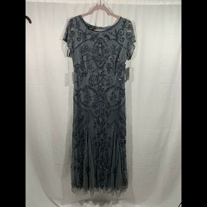 Pisarro Nights Dresses - NWT Pisarro Nights Embellished Short Sleeve Gown